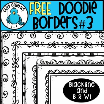 FREE Doodle Borders, Set 3 - Chirp Graphics