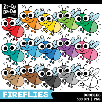 FREE Doodle Fireflies Clipart Set {Zip-A-Dee-Doo-Dah Designs}