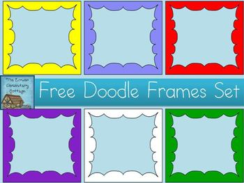 FREE Doodle Frames Set {Personal & Commercial Use}