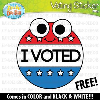 "FREE Doodle ""I VOTED"" Voting Sticker Clipart Set {Zip-A-Dee-Doo-Dah Designs}"