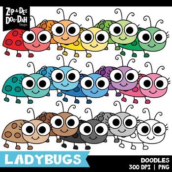 FREE Doodle Ladybugs Clipart Set {Zip-A-Dee-Doo-Dah Designs}
