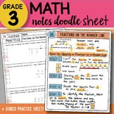 FREE Doodle Sheet - Fractions on a Number Line - EASY to Use Notes w/PPT