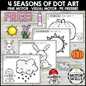 Free Dot Stamper Art And Coloring Pages Spring