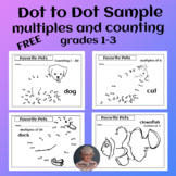 FREE Dot to Dot Counting 1-30 and Skip Counting by 2's, 5's, 10's Printable