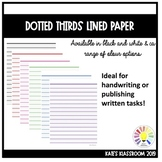 FREE Dotted Thirds Lined Paper A4