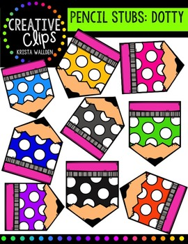 FREE Dotty Pencil Stubs {Creative Clips Digital Clipart}