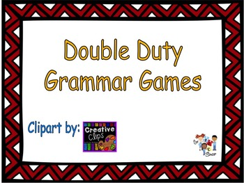 FREE!! Double Duty Grammar Games Sample