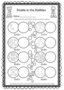 Doubles facts numbers worksheet free by olivia walker tpt doubles facts numbers worksheet free ibookread Download