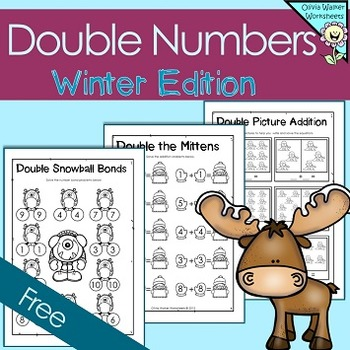 Double Numbers -  Winter Themed - FREE - Doubling Numbers -