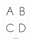 FREE Double Sided A-Z Flash Cards