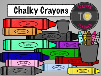 FREE Download - Back To School: Crayon clipart {TeacherToT
