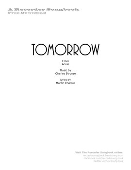 FREE Download - Tomorrow from Annie