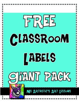 Blue and Black Classroom Labels