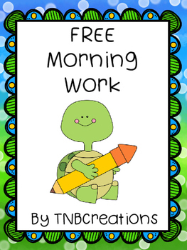 Free Morning Work Worksheets