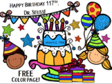 FREE Dr. Seuss Birthday Color Page for 2021-2024