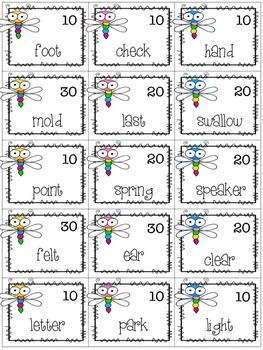 FREE! Dragonfly Doubles - Multiple Meaning Words