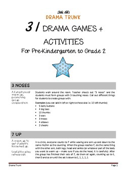 Drama Games and Activities for Pre-Kindergarten to Grade 2