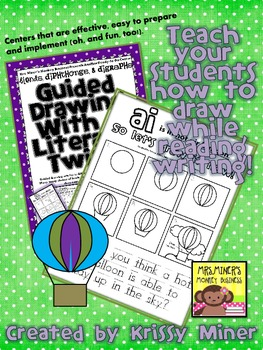FREE Draw It Now Hot Air Balloon Literacy Center-Easy to Prep & Implement Center