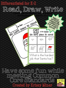 FREE Draw It Now Santa Literacy Center-Easy to Prepare & Implement Center
