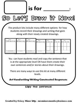 FREE Draw It Now, Write Later with a Literacy Twist Groundhog Freebie