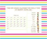 Dry-erase Calendar for Circle Time