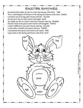 FREE - EASTER Language Activities: Grammar,Directions,Pronouns,Parts of Speech