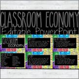 FREE, EDITABLE Classroom Economy Powerpoint