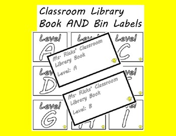 FREE EDITABLE Classroom Library Labels FOR BINS AND BOOKS