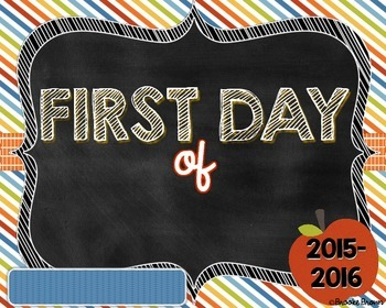 FREE & EDITABLE First Day of School Chalkboard Prints {Boy & Girl Versions}