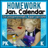 FREE EDITABLE Homework Calendar | PreK and Kindergarten Ho