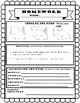 FREE EDITABLE Homework with Weekly Chore, Writing and Reading