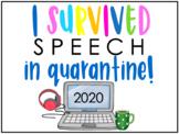 FREE! & EDITABLE I Survived Quarantine Sign