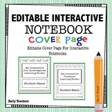 FREE - EDITABLE INTERACTIVE NOTEBOOK COVER PAGE