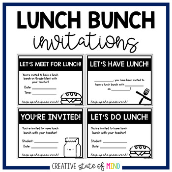 free editable lunch bunch invitations by miss kristina tpt