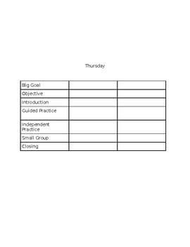 FREE EDITABLE Lesson Plan Template