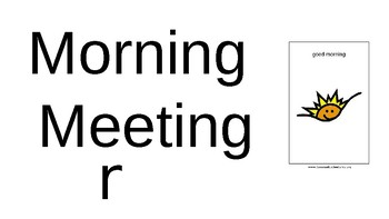 FREE EDITABLE Morning Meeting PowerPoint