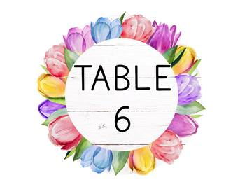 FREE EDITABLE Table Signs & Name Tags - Farmhouse Floral Classroom Decor