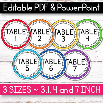 FREE EDITABLE Table Signs and Editable Name Tags - Polka Dot Classroom Decor