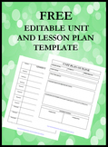 FREE EDITABLE UNIT AND LESSON PLAN OUTLINES