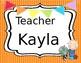 FREE EDITABLE VIPKID Teacher Name Tag