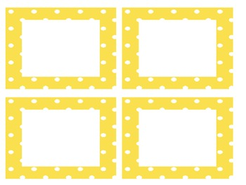 FREE!! EDITABLE polka dot library labels