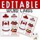 FREE EDITABLE sight word game Oh Canada!