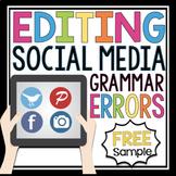 FREE GRAMMAR ACTIVITY SAMPLE: EDITING SOCIAL MEDIA