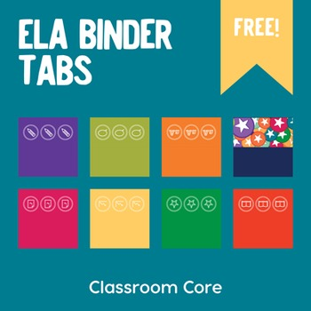 FREE ELA Binder Tabs