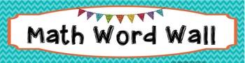 MATH Word Wall Banner - Chevron Plain