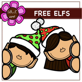 FREE ELFS Digital Clipart (color and black&white)
