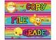 FREE!!! EMOJI Rainbow Stripe Theme Daily Drawer labels