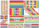 FREE!! EMOJI Rainbow stripe Themed Tool Box Labels EDITABLE!!