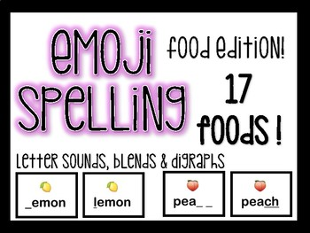 FREE EMOJI Spelling- Food Edition!