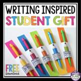 GIFT FOR STUDENTS: WRITING INSPIRED (BACK TO SCHOOL OR END OF THE YEAR)